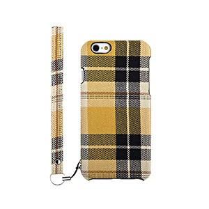 ファブリックケース [NUNO] イエローチェック iPhone 6s
