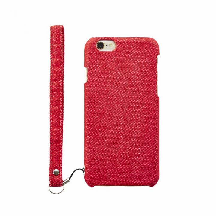 【iPhone6s Plusケース】ファブリックケース [NUNO] レッドデニム iPhone 6s Plus_0