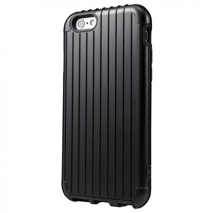 【iPhone6ケース】2重構造で保護 ICカード対応ハイブリッドケース ブラック iPhone 6ケース_0