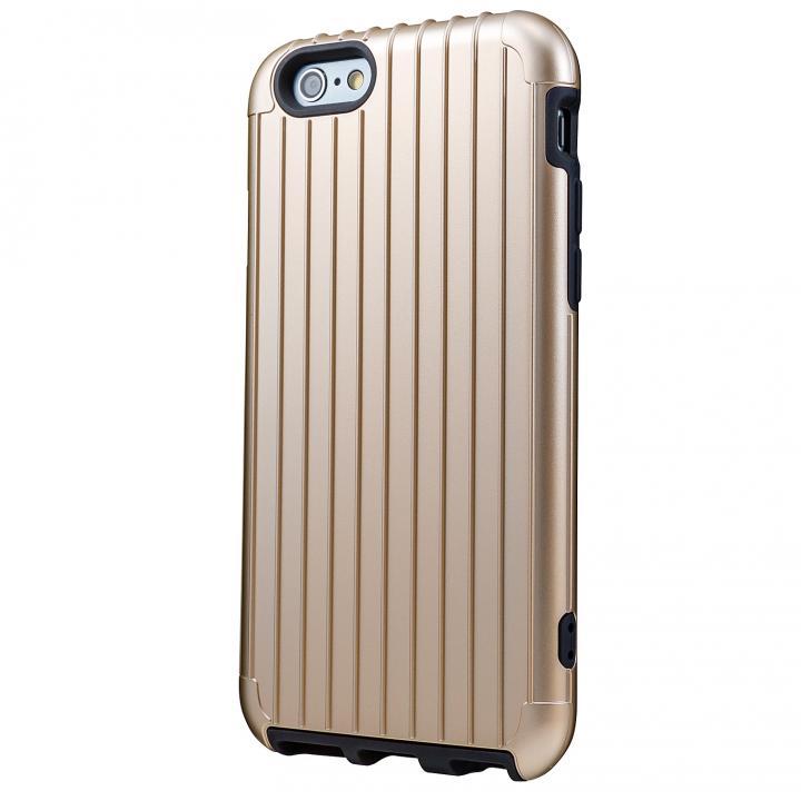 2重構造で保護 ICカード対応ハイブリッドケース ゴールド iPhone 6ケース
