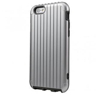 2重構造で保護 ICカード対応ハイブリッドケース シルバー iPhone 6ケース