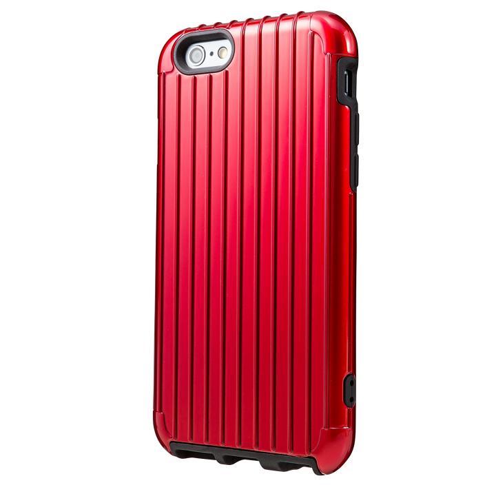 2重構造で保護 ICカード対応ハイブリッドケース レッド iPhone 6ケース