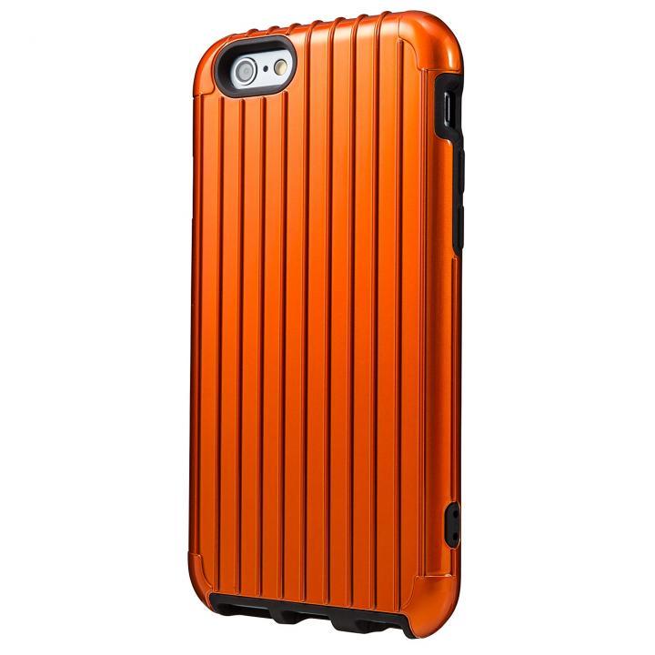 2重構造で保護 ICカード対応ハイブリッドケース オレンジ iPhone 6ケース