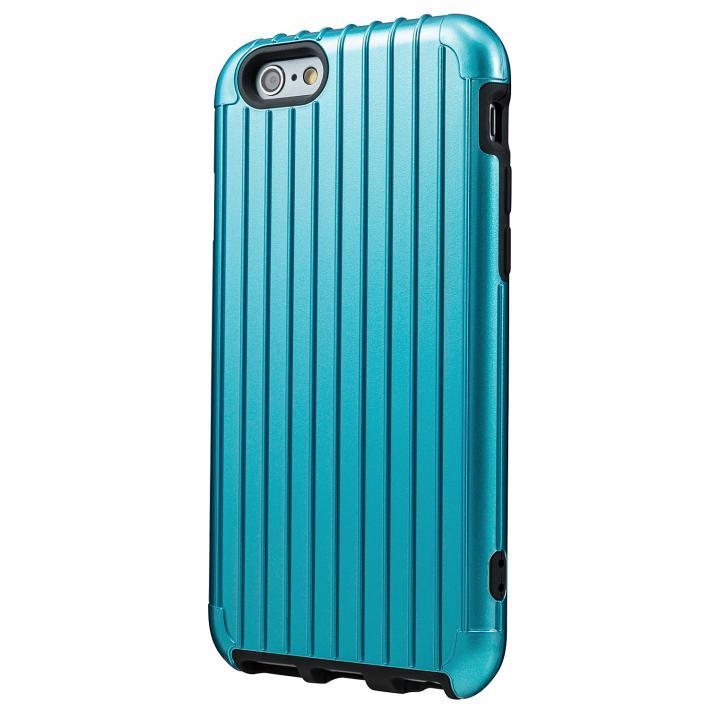 2重構造で保護 ICカード対応ハイブリッドケース ブルー iPhone 6ケース