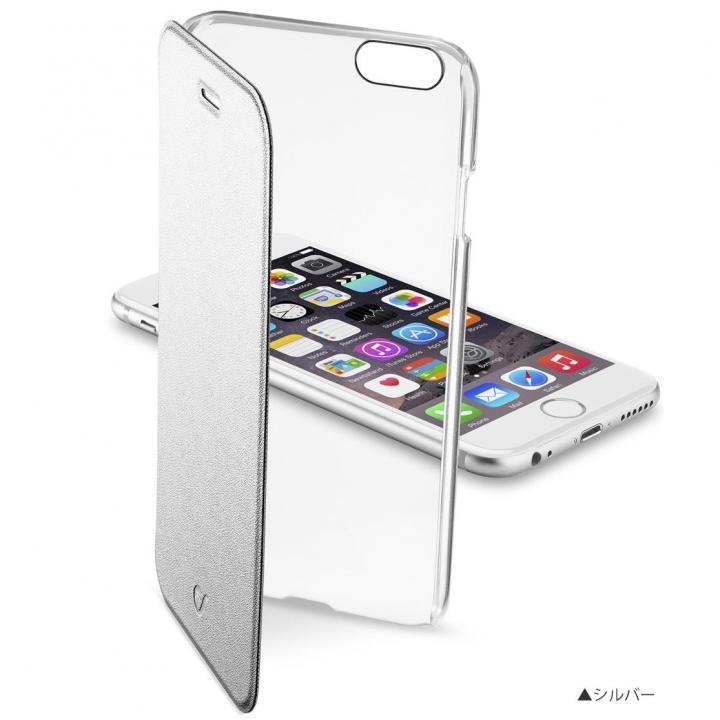 iPhone8/7 ケース 背面クリア手帳型ケース Clearbook シルバー iPhone 8/7【9月下旬】_0