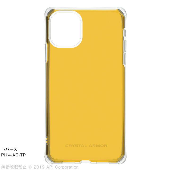 iPhone 11 ケース CRYSTAL AQUA 耐衝撃クリアケーストパーズ iPhone 11_0