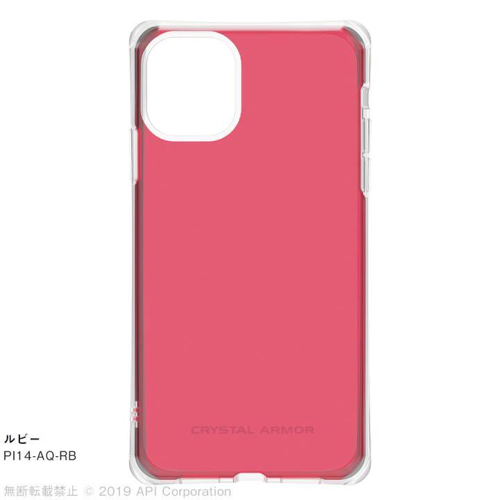 iPhone 11 ケース CRYSTAL AQUA 耐衝撃クリアケースルビー iPhone 11_0