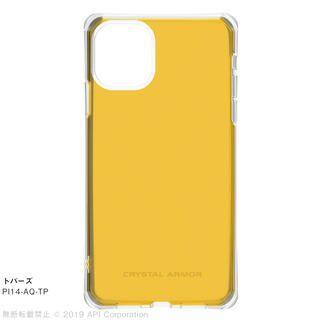 iPhone 11 ケース CRYSTAL AQUA 耐衝撃クリアケーストパーズ iPhone 11