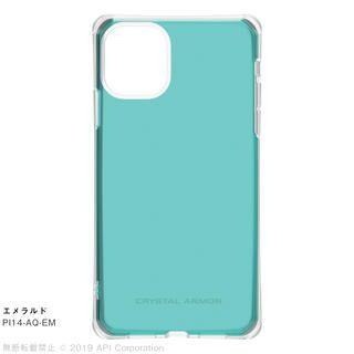 iPhone 11 ケース CRYSTAL AQUA 耐衝撃クリアケースエメラルド iPhone 11【9月中旬】