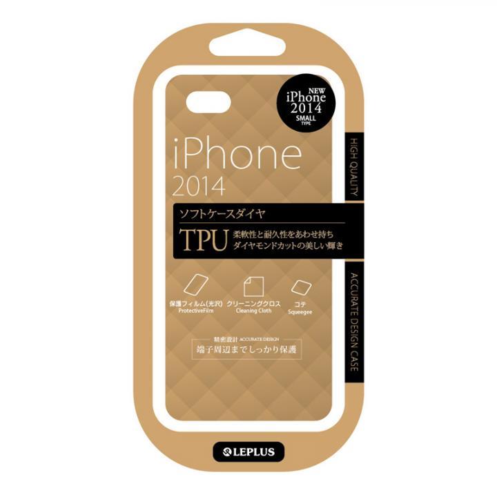 TPUケース ダイヤカットデザイン シャンパンブラウン iPhone 6ケース