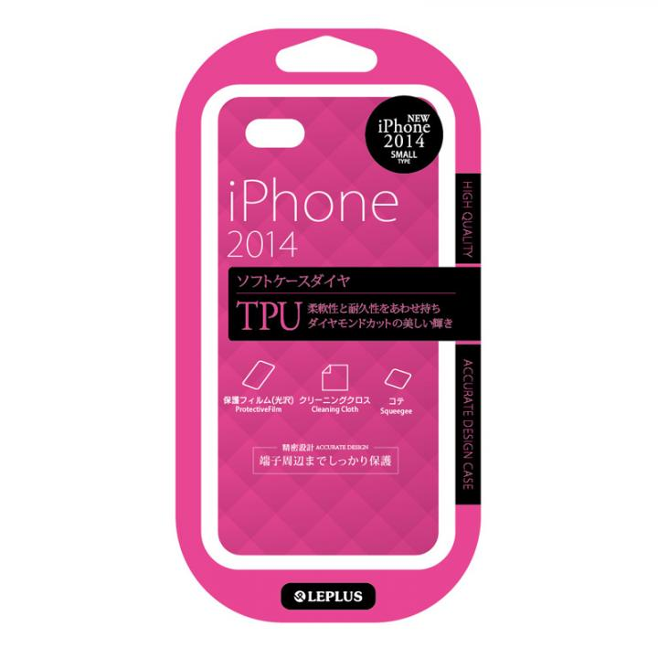 iPhone6 ケース TPUケース ダイヤカットデザイン ビビッドピンク iPhone 6ケース_0