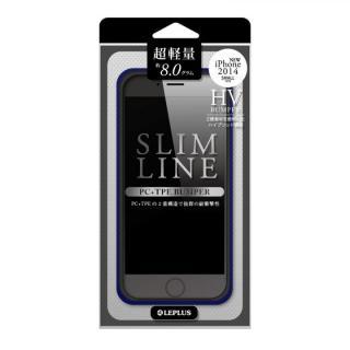 ハイブリッドバンパー SLIM LINE ネイビー iPhone 6バンパー