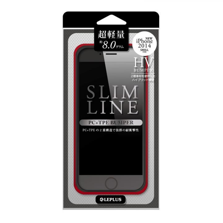 【iPhone6ケース】ハイブリッドバンパー SLIM LINE レッド iPhone 6バンパー_0