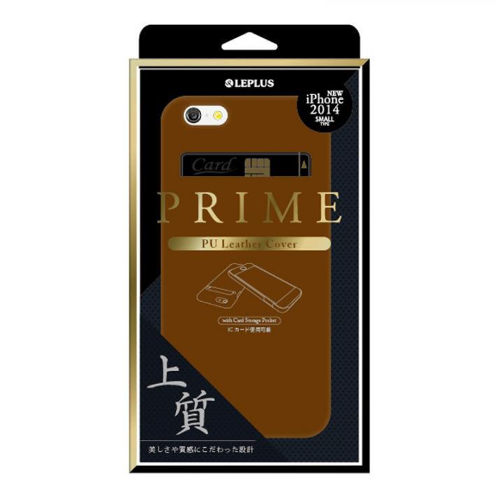 PUレザーシェルケース PRIME キャメル iPhone 6ケース