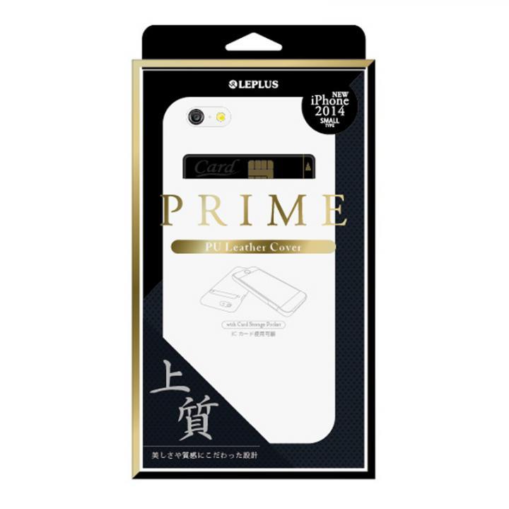 【iPhone6ケース】PUレザーシェルケース PRIME ホワイト iPhone 6ケース_0