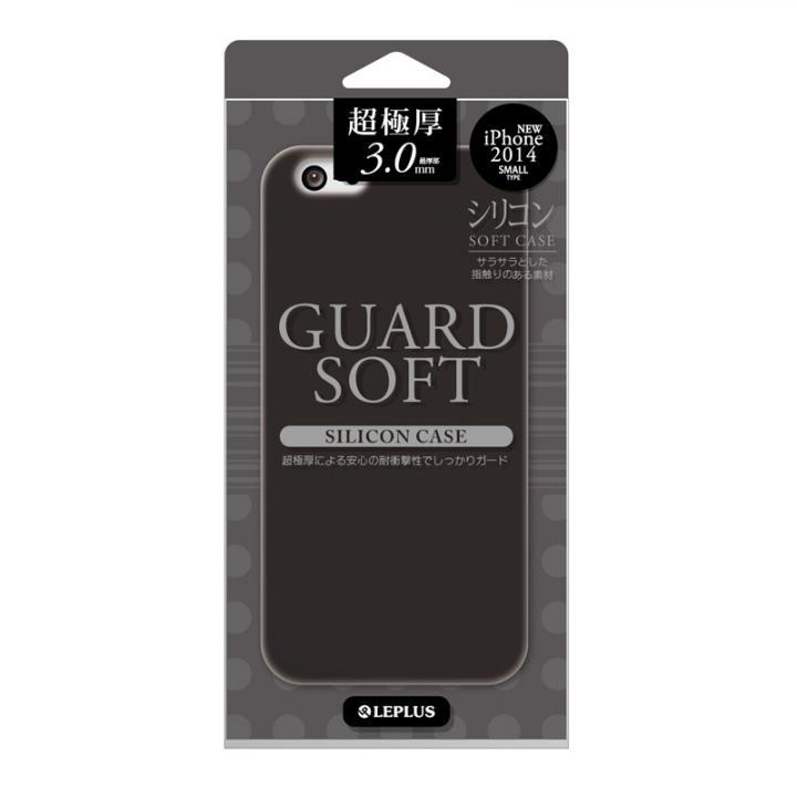 【iPhone6ケース】極厚3.0mm シリコンケース GUARD SOFT ブラック iPhone 6ケース_0