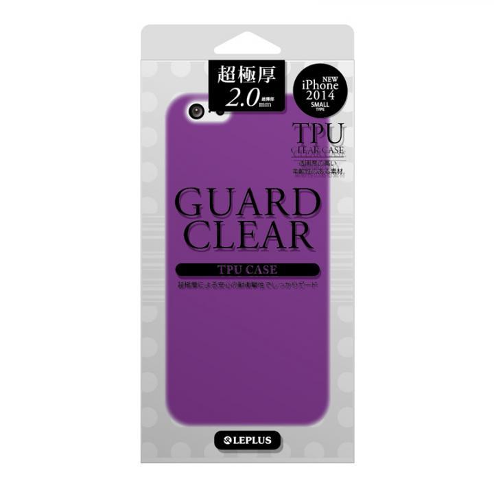 極厚2.0mm TPUケース GUARD CLEAR パープル iPhone 6ケース