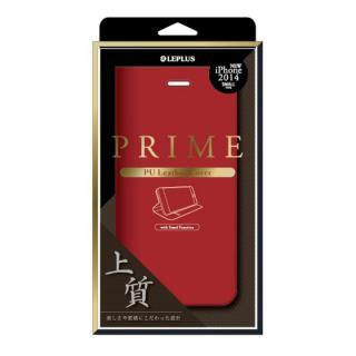 PUレザー手帳型ケース PRIME レッド iPhone 6ケース