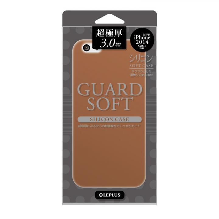 【iPhone6ケース】極厚3.0mm シリコンケース GUARD SOFT ブラウン iPhone 6ケース_0