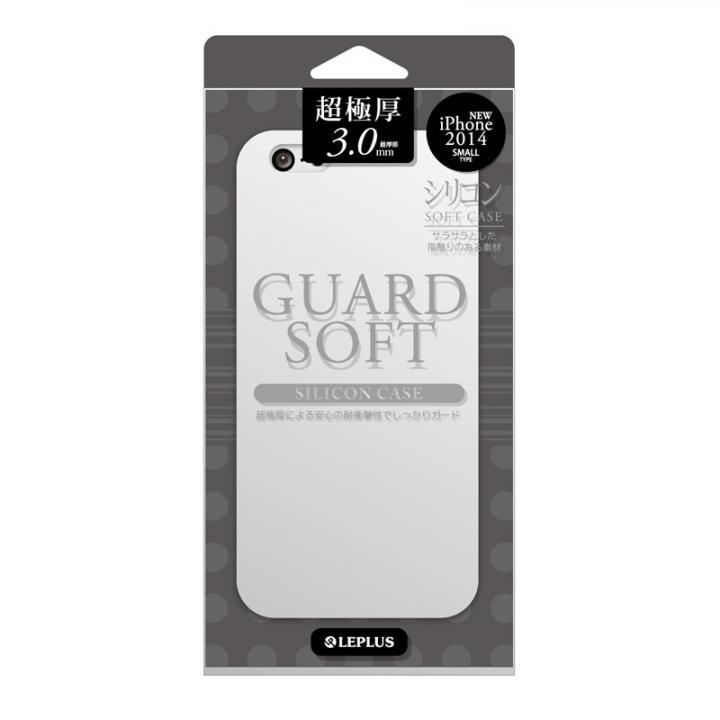 極厚3.0mm シリコンケース GUARD SOFT ホワイト iPhone 6ケース