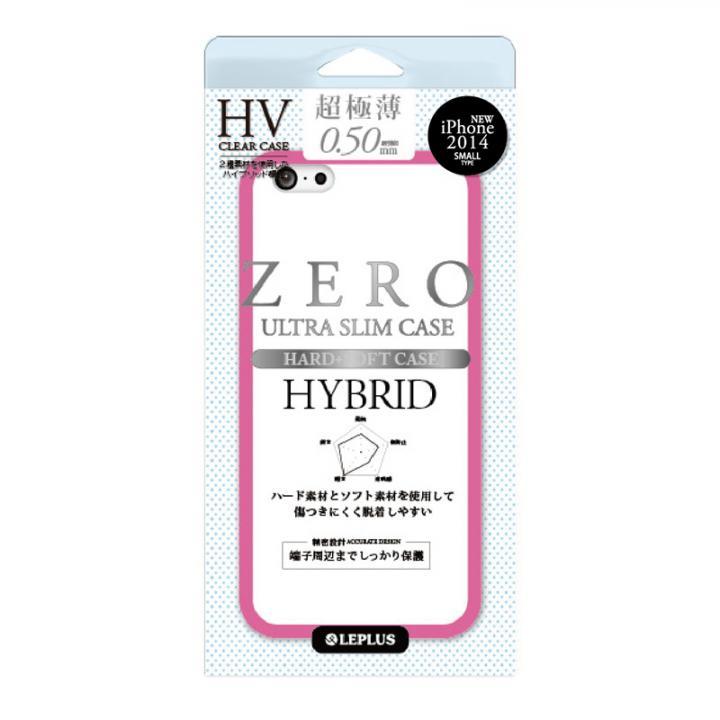 【iPhone6ケース】超極薄0.5mm ハイブリッドケース ZERO HV クリア+ピンク iPhone 6ケース_0