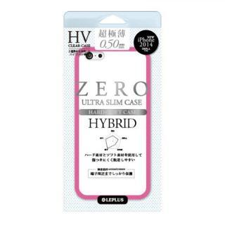 超極薄0.5mm ハイブリッドケース ZERO HV クリア+ピンク iPhone 6ケース