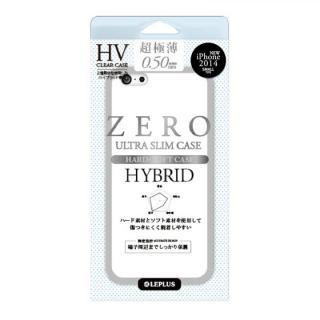 超極薄0.5mm ハイブリッドケース ZERO HV クリア+スモーク iPhone 6ケース