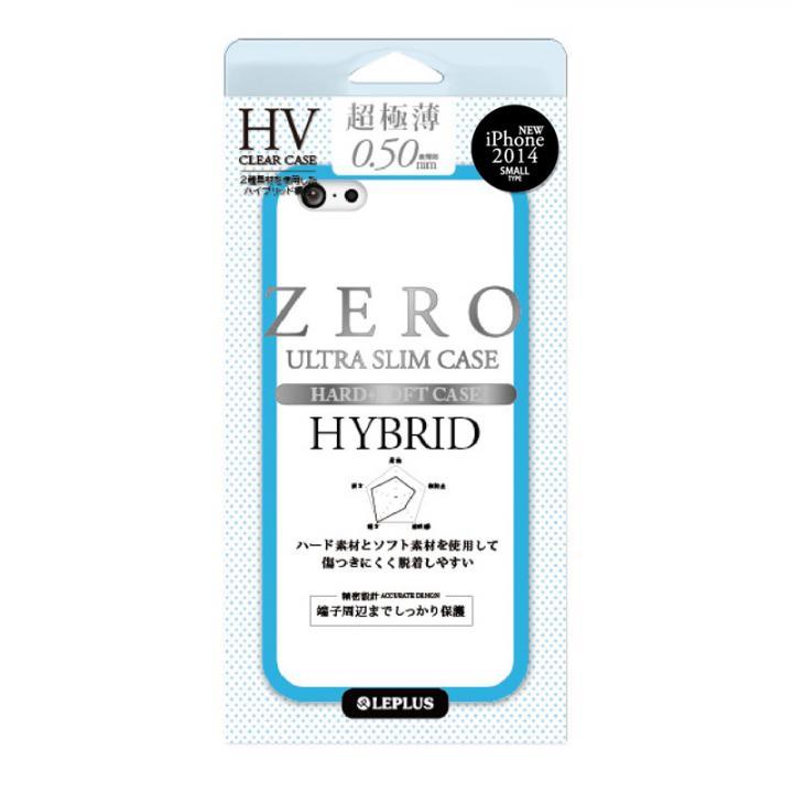 超極薄0.5mm ハイブリッドケース ZERO HV クリア+ブルー iPhone 6ケース