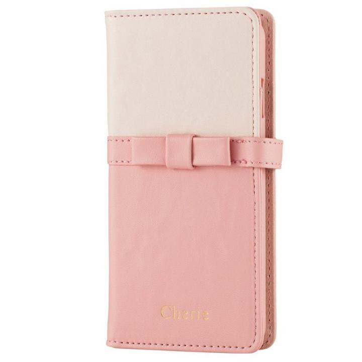 ソフトレザーミラー付手帳型ケース ピンク iPhone 6s