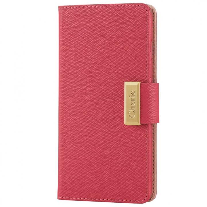 ソフトレザースナップ付き手帳型ケース ピンク iPhone 6s Plus
