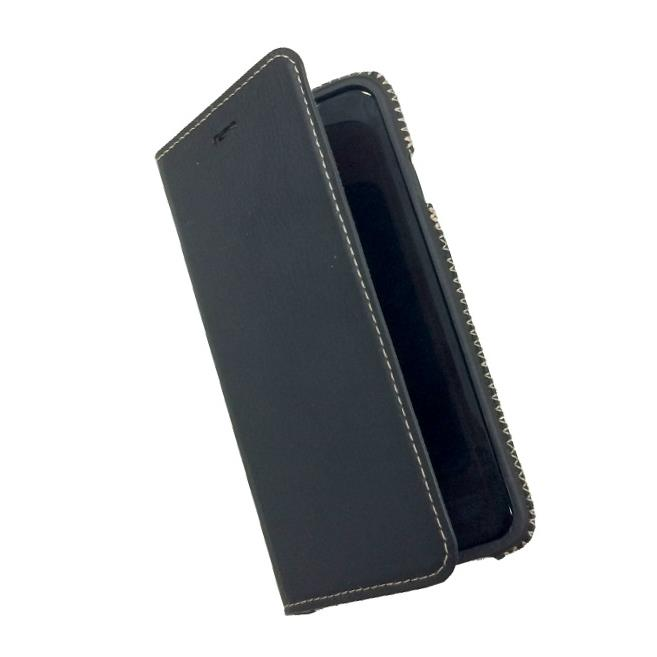 【iPhone6sケース】本革 スプリットレザー手帳型ケース ブラック iPhone 6s_0
