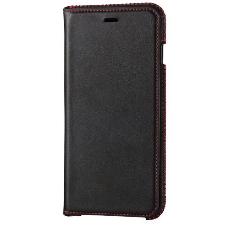 【iPhone6s Plusケース】本革 スプリットレザー手帳型ケース ブラック iPhone 6s Plus_0