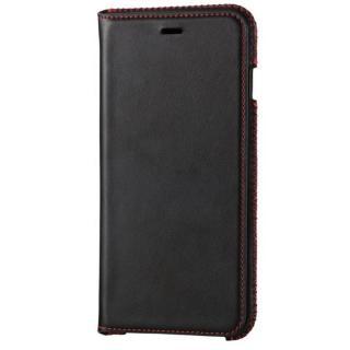 [強靭発売記念特価]本革 スプリットレザー手帳型ケース ブラック iPhone 6s Plus