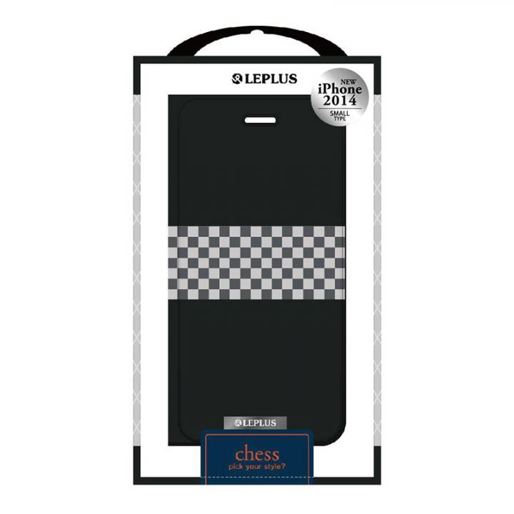 【iPhone6ケース】CHESSデザインPUレザー手帳型ケース ブラック iPhone 6ケース_0