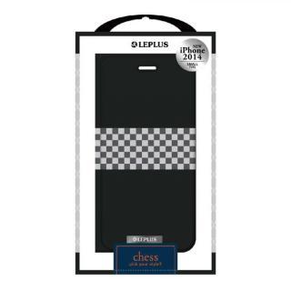 CHESSデザインPUレザー手帳型ケース ブラック iPhone 6ケース