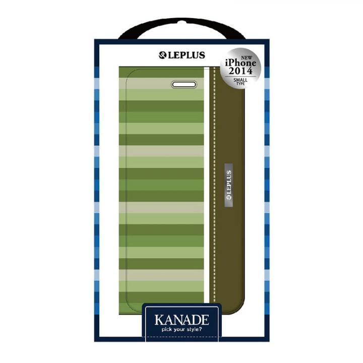 KANADE デザインPUレザー手帳型ケース グリーン iPhone 6ケース