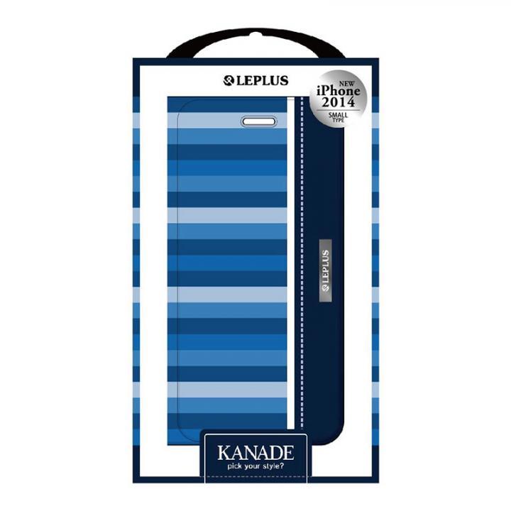KANADE デザインPUレザー手帳型ケース ブルー iPhone 6ケース