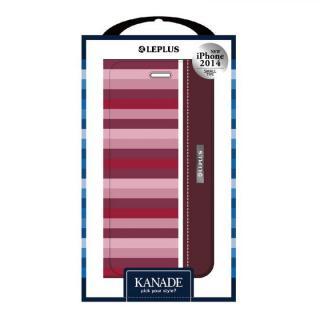 KANADE デザインPUレザー手帳型ケース レッド iPhone 6ケース
