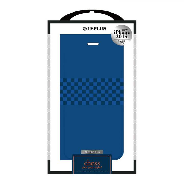 【iPhone6ケース】CHESS デザインPUレザー手帳型ケース ブルー iPhone 6ケース_0