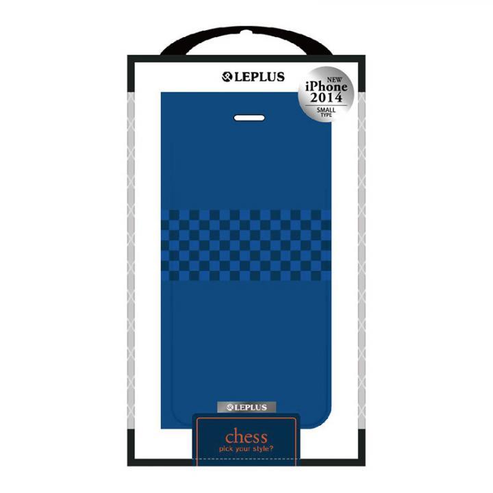 iPhone6 ケース CHESS デザインPUレザー手帳型ケース ブルー iPhone 6ケース_0