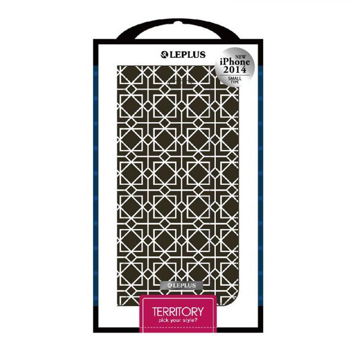 【iPhone6ケース】TERRITORY デザインPUレザー手帳型ケース ブラック iPhone 6ケース_0