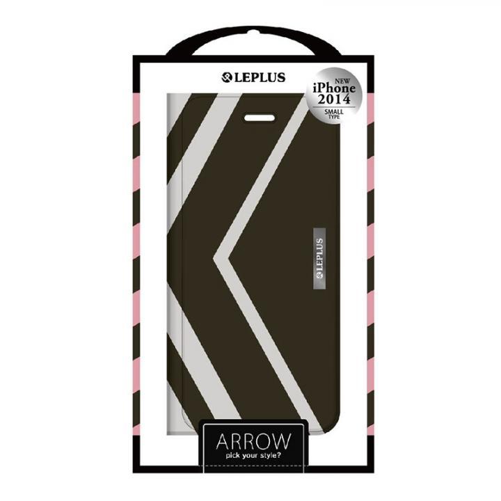 ARROW デザインPUレザー手帳型ケース グレー iPhone 6ケース