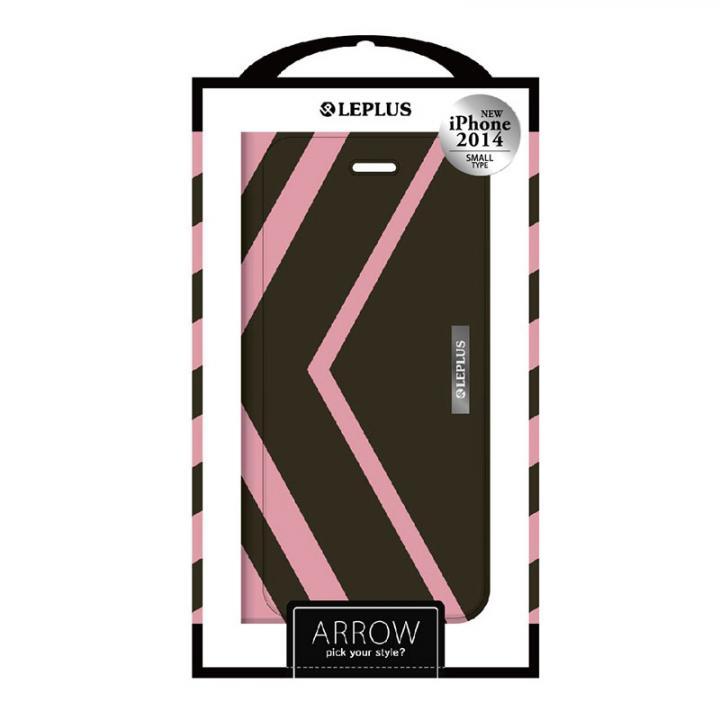iPhone6 ケース ARROW デザインPUレザー手帳型ケース ピンク iPhone 6ケース_0
