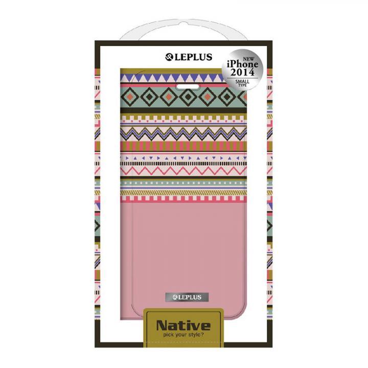 NATIVE デザインPUレザー手帳型ケース レッド iPhone 6ケース