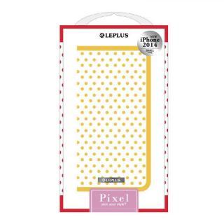 PIXEL デザインPUレザー手帳型ケース イエロー iPhone 6ケース