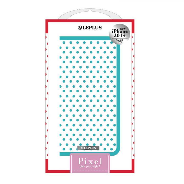 PIXEL デザインPUレザー手帳型ケース ブルー iPhone 6ケース