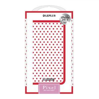 PIXEL デザインPUレザー手帳型ケース レッド iPhone 6ケース