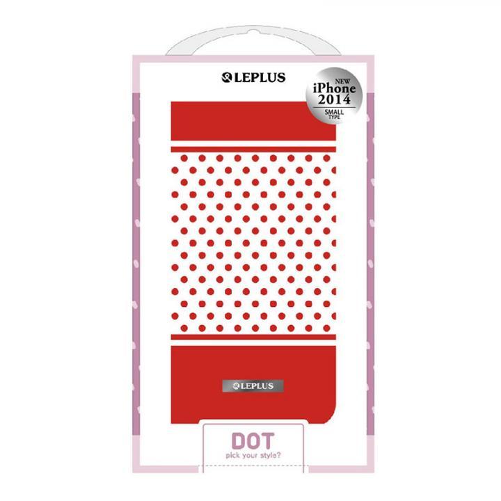 DOT デザインPUレザー手帳型ケース レッド iPhone 6ケース
