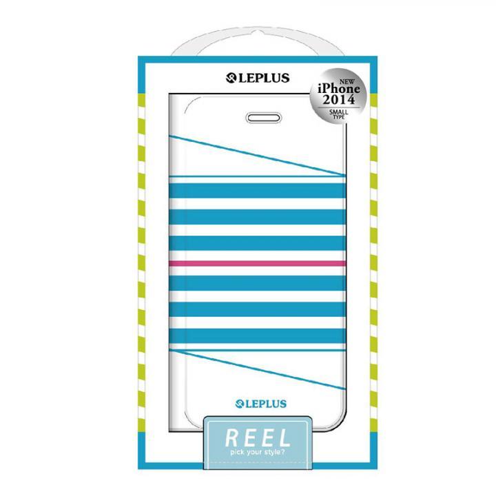 REEL デザインPUレザー手帳型ケース ブルー iPhone 6ケース