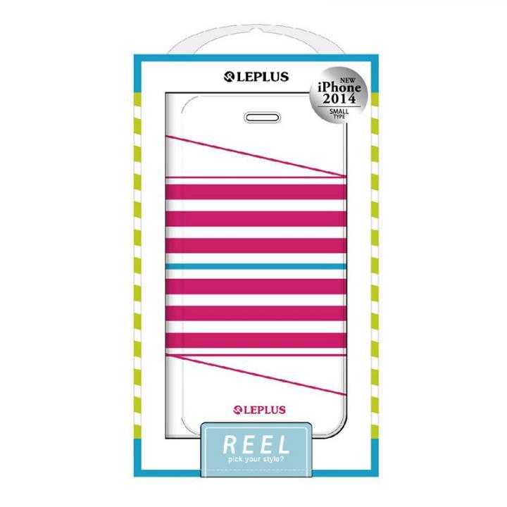 iPhone6 ケース REEL デザインPUレザー手帳型ケース ピンク iPhone 6ケース_0